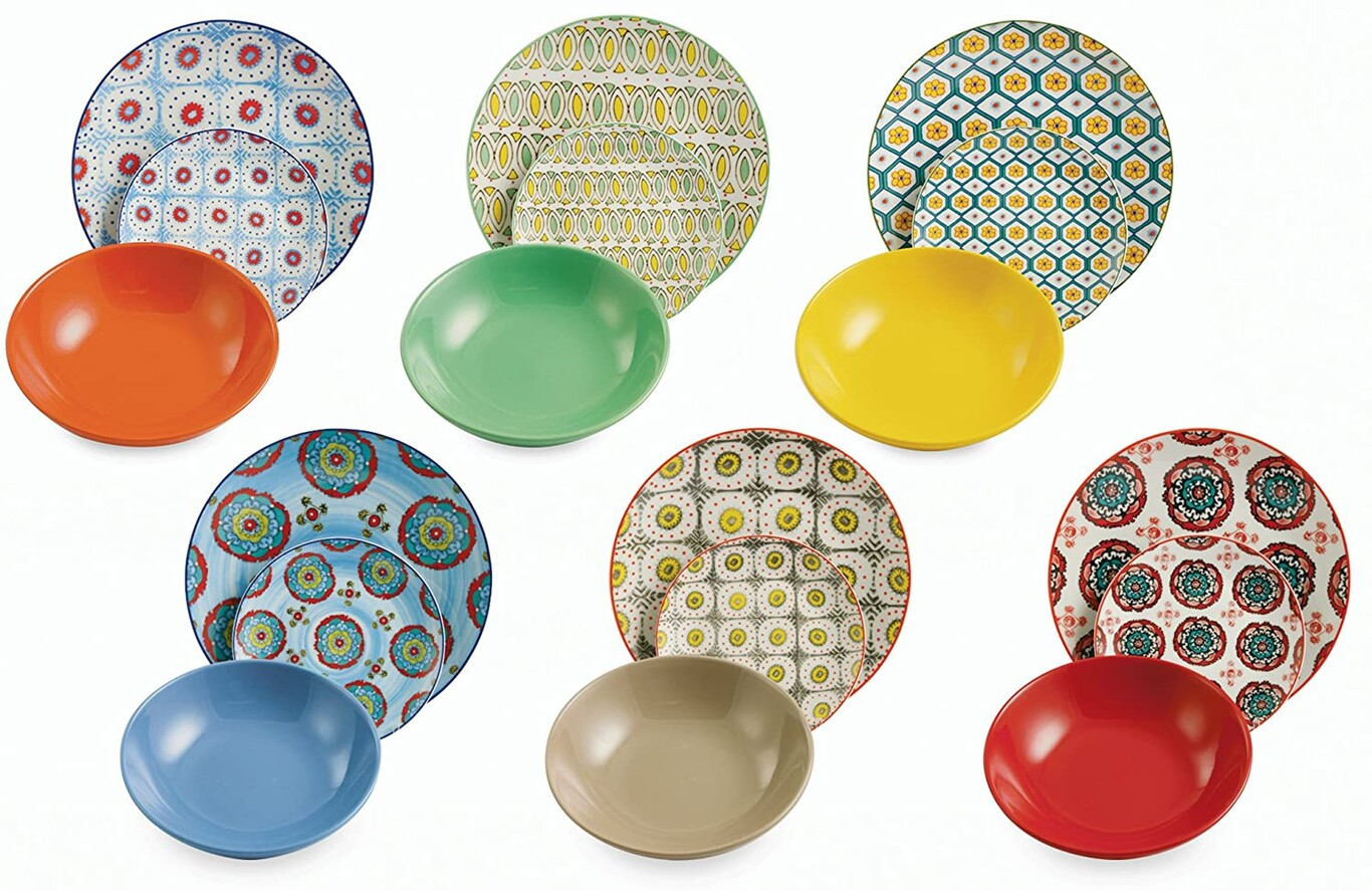 Bazar juego de platos con 18 piezas de Villa d'este