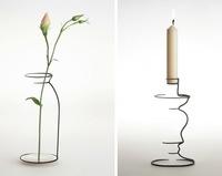 Jarrones y candeleros minimalistas inspirados en sencillos bocetos
