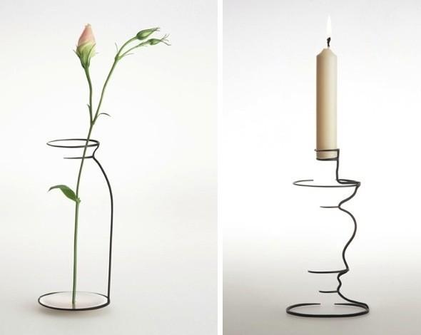 Jarrones y candeleros minimalistas inspirados en sencillos - Jarrones de diseno ...