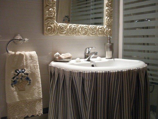 decorar lavabo con pie : decorar lavabo con pie:Enséñanos tu casa: el baño de Lorena