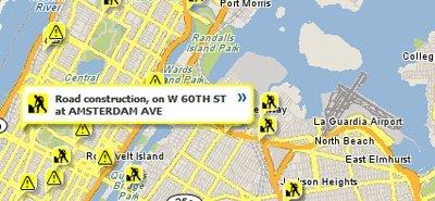 Yahoo Maps te informa del estado del tráfico
