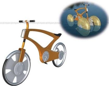 Una bicicleta anfibia