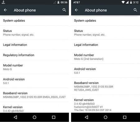 Moto G 2013 y 2014 comienzan a recibir Lollipop 5.0.1