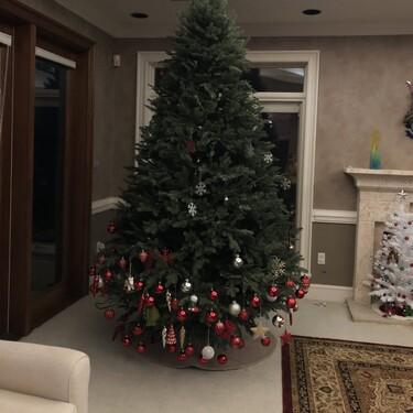 La tierna y divertida foto viral de un árbol de Navidad decorado por una niña pequeña