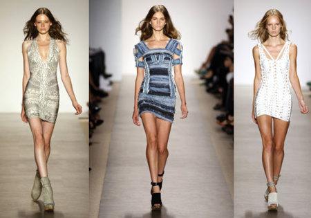 Hervé Léger Primavera-Verano 2010 en la Semana de la Moda de Nueva York