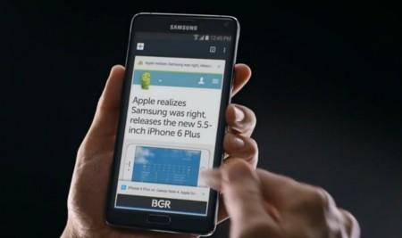 Samsung vuelve a meterse con Apple en un nuevo vídeo promocional del Galaxy Note 4