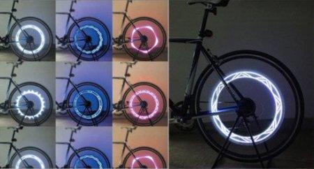 LEDs de colores para las ruedas de tu bicicleta