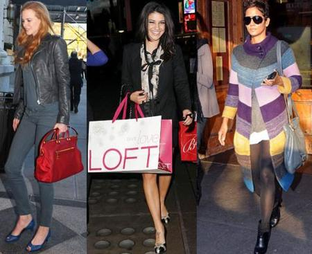 Así visten las celebrities para ir de compras navideñas
