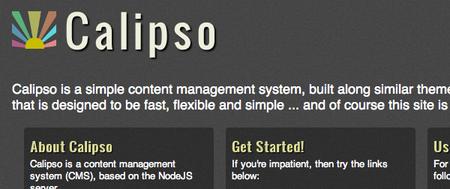 Calipso, un CMS basado en Node.js y MongoDB