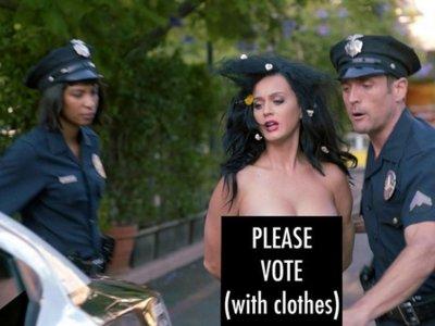Katy Perry y Madonna quieren que votes. Desnudo... o no