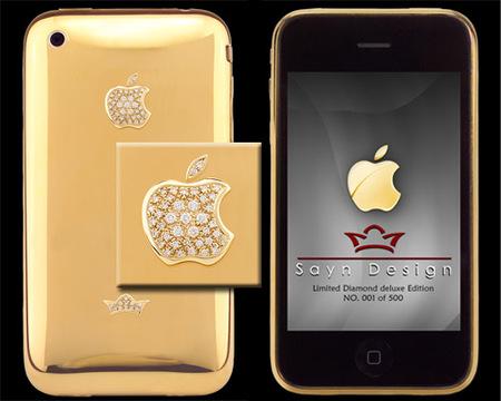 El iPhone sigue revistiéndose de lujo, ahora: oro y diamantes