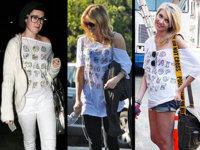 Rumer Willis, Kate Hudson y Taylor Momsen, y sus camisetas de Withley Kros
