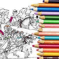 Descarga gratis cientos de libros para colorear de museos y bibliotecas de todo el mundo