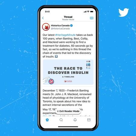 Twitter Blue Oficial Modo Lectura