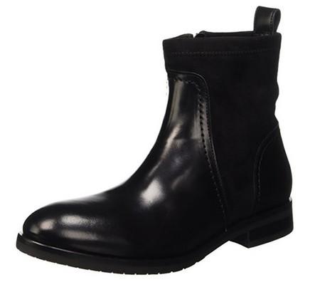 03e33187 Tommy Hilfiger B1285erry: Botín para mujer de cuero con tacón plano. Sólo  disponible en negro y en tallas desde 36 hasta 40. Dependiendo del número  el ...