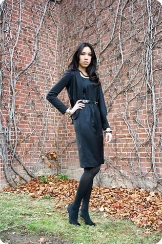 Looks de calle para estos días: vestidos e ideas para esta Nochevieja, vestido negro