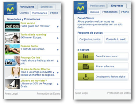 Movistar crea un portal especial para el iPhone
