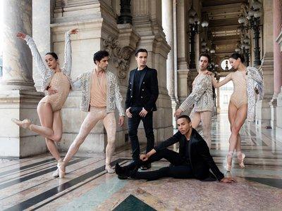 Balmain viste de lujo a los bailarines de la Ópera de París con los diseños de Olivier Rousteing