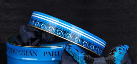Las pajaritas adornadas con plumas de Maison F para Petrossian