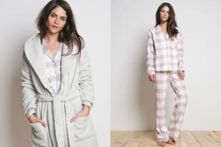 pijama cuadros oysho