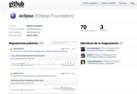 Eclipse.org y GitHub: cerca de 70 proyectos ya tienen repositorio en GitHub