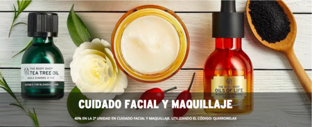 The Body Shop: 40% en la segunda unidad en facial y maquillaje