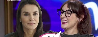 La curiosísima anécdota de Ana Morgade con la reina Letizia: Esta es la pregunta que empañó las gafas (sin cristales) de la presentadora