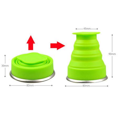 Vaso de silicona plegable ideal para viajes y excursiones rebajado en eBay por 2,07€ y gastos de envío gratis