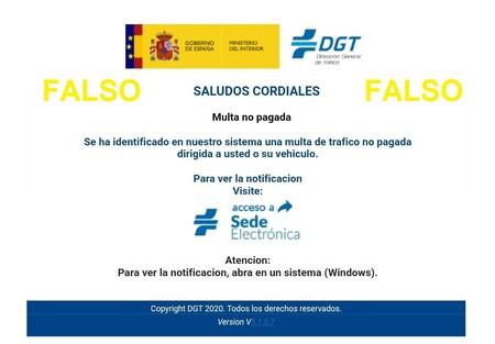 """Cuidado si recibes un aviso de """"multa no pagada"""": ese correo electrónico no es de la DGT, es una estafa"""