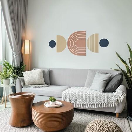 Vinilo Decorativo Bloque de Color Geométrico