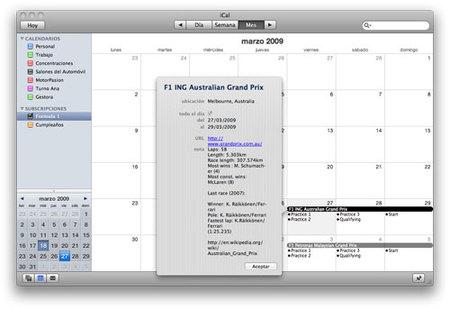 Suscríbete al calendario de la Fórmula 1 en tu iCal