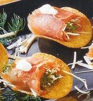 Rollitos de salmón con berros