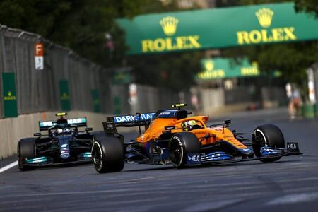 Norris Bottas Baku F1 2021