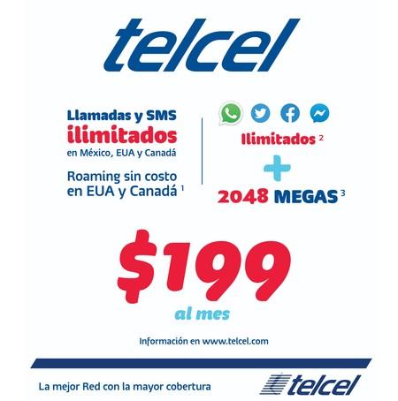 Telcel 199 Plan Mexico Detalles