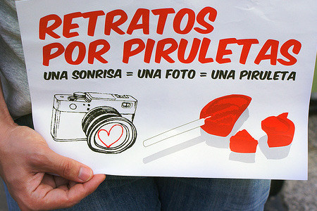 "Retratos por piruletas, ahora ""made in Spain"""