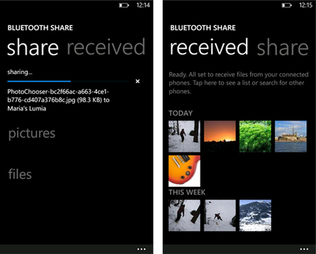 Nokia Bluetooth Share ya disponible en la Windows Phone Store