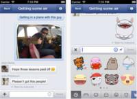 Facebook Messenger para iOS, ahora con pegatinas