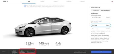 Precio Model 3 Eeuu