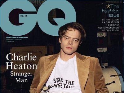 Los chicos de Stranger Things siguen de moda: Charlie Heaton en la portada de GQ Italia