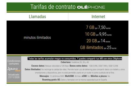 Nuevas Tarifas Moviles De Contrato Olephone En Diciembre De 2020