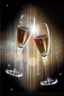 El champagne se sirve a temperatura frappé