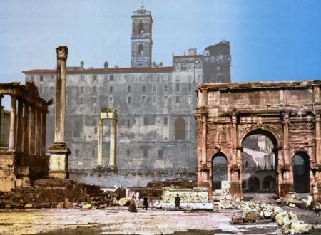 El Muy Espectacular Templo De Saturno Y El Arco Del Triunfo De Septimus Severus