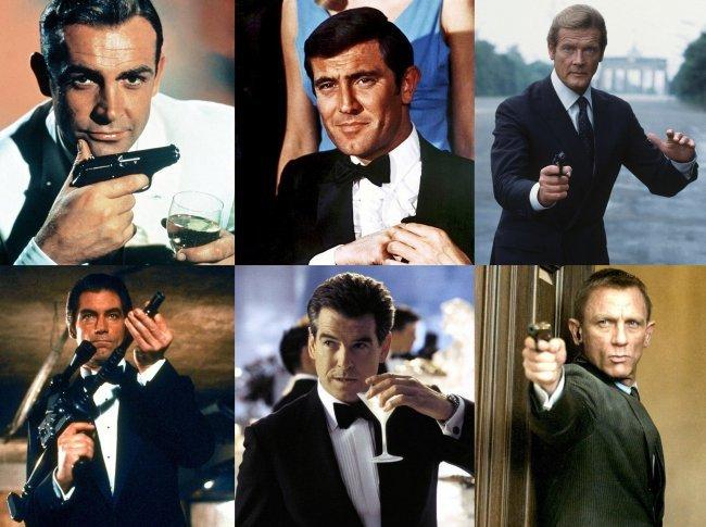 Imágenes de los seis actores que han dado vida a James Bond en el cine