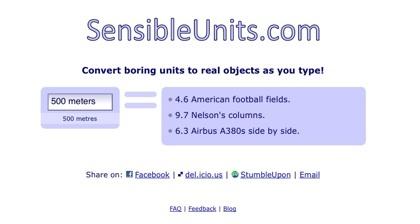 SensibleUnits, conoce el equivalente a objetos reales de cualquier cantidad