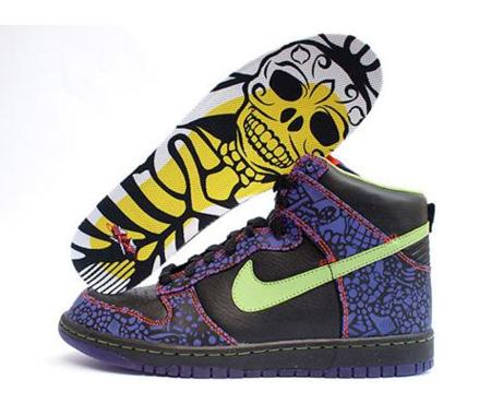 interfaz adolescentes Adaptado  Zapatillas Nike Dunk Hi del Día de los Muertos