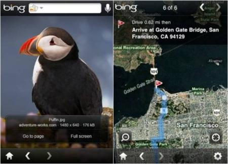 Bing para el iPhone