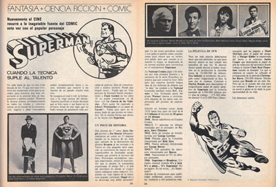 Superman en un artículo de 1978