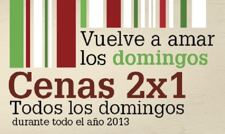 2x1 todos los domingos de 2013 en 'Ginos'