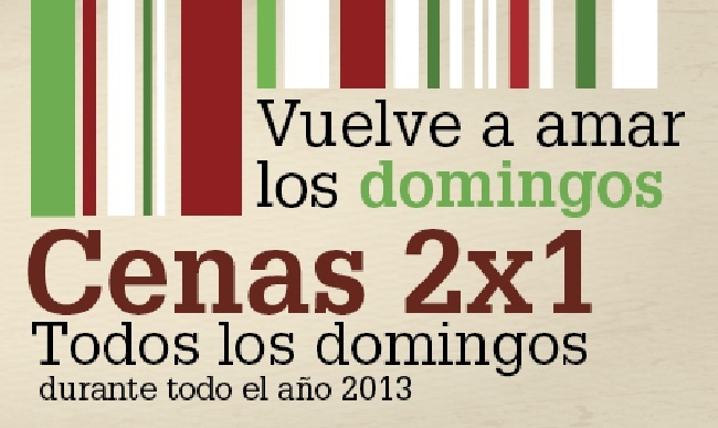 2x1 Ginos Domingos