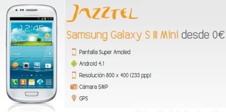 Precios Samsung Galaxy SIII Mini también con Jazztel